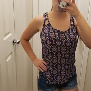 Tribal patterned tank top